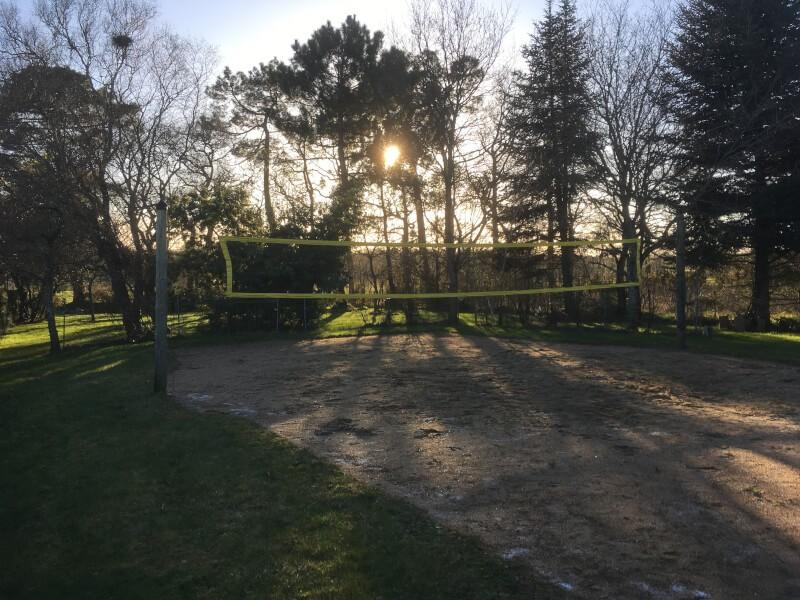 Filet beach volley terrain extérieur