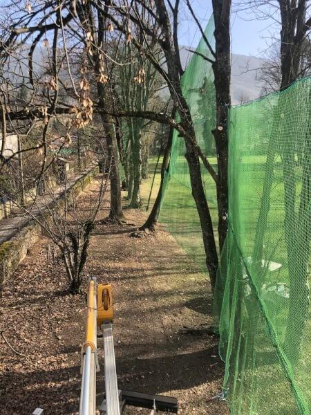 Filet de clôture pour parcours de Golf