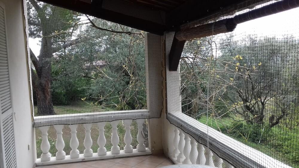 Sécurisation d'une terrasse avec filet