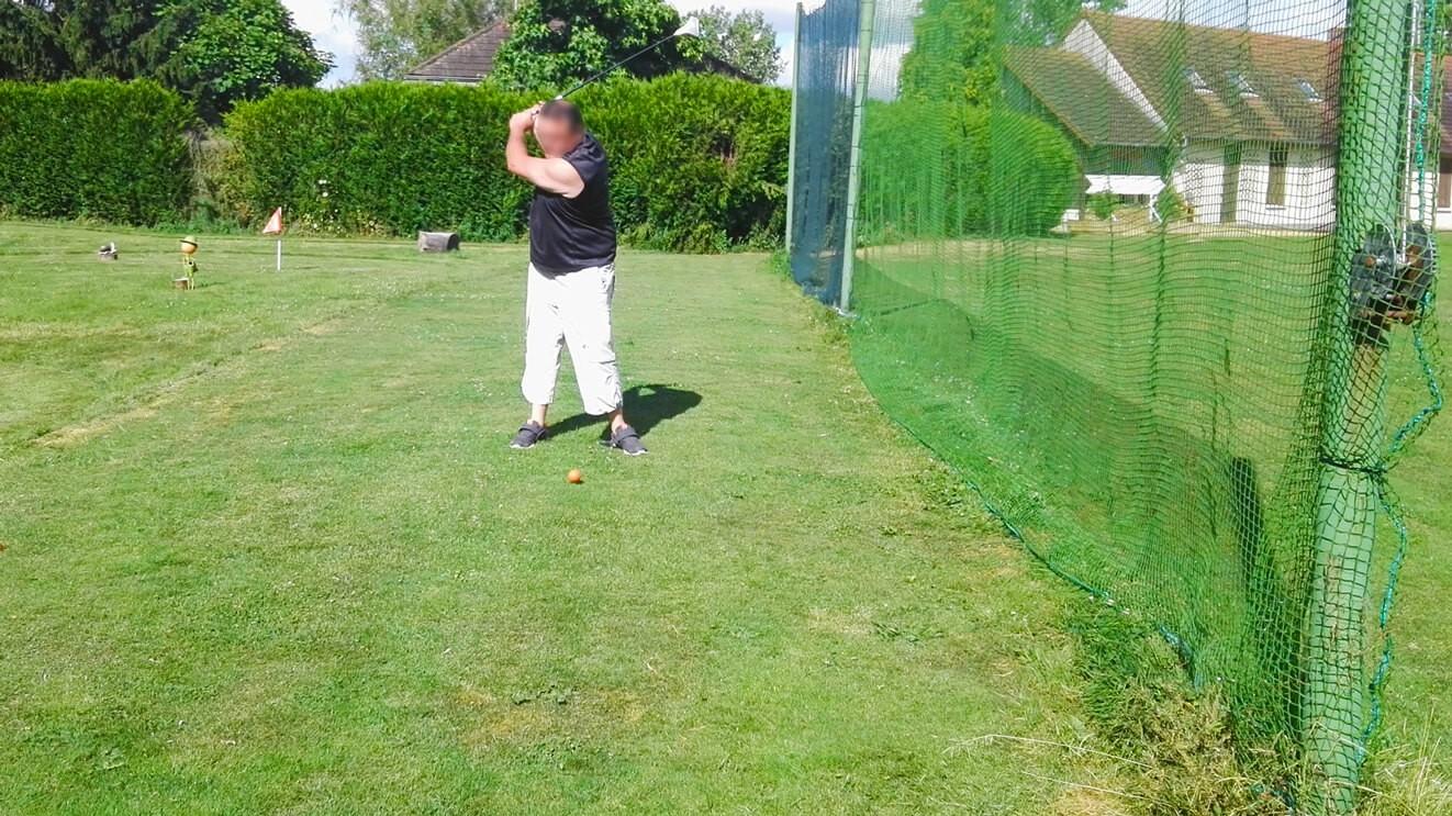 Filet de clôture pour parcours de Golf envoyé par un client