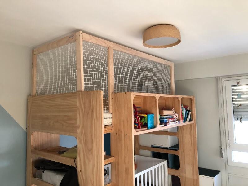 Filet de protection enfants pour lit suspendu entièrement sécurisé