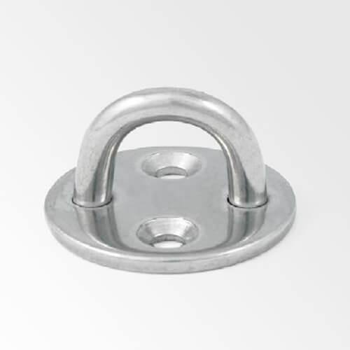Pontet sur platine ronde inox - ∅ jusqu'à 12 mm