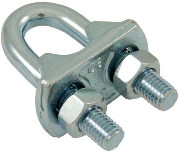 Serre-câble à étrier en acier zingué pour câble 10/12 mm