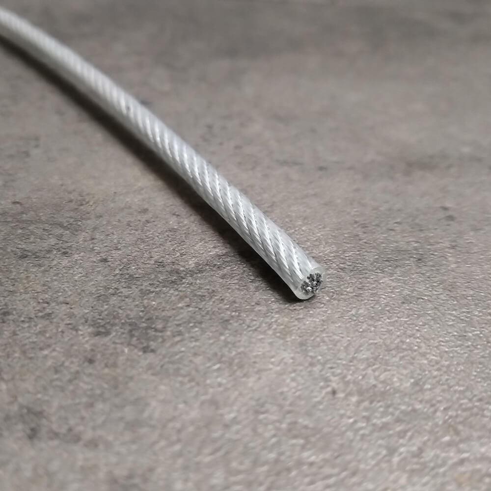 Câble acier PVC pour filets de mezzanine - Ø 12 mm gaine incluse