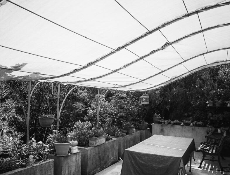Filet brise-vue / ombrage pour terrasse