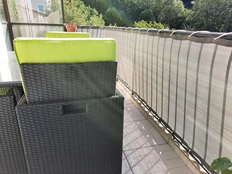 Filet brise-vue de couleur pour discretion terrasse
