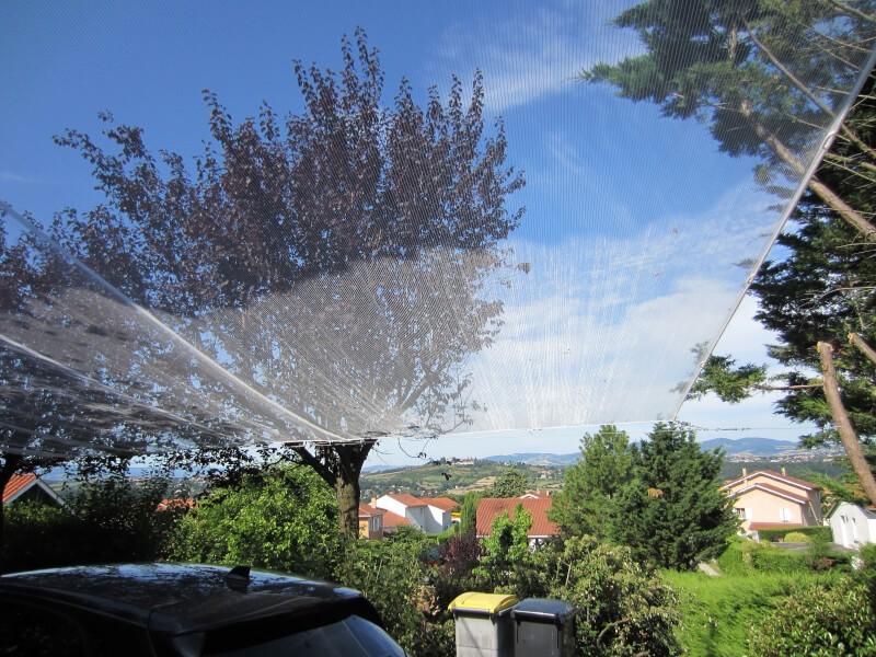 Filet anti-grêle protection des voitures stationnées en extérieur