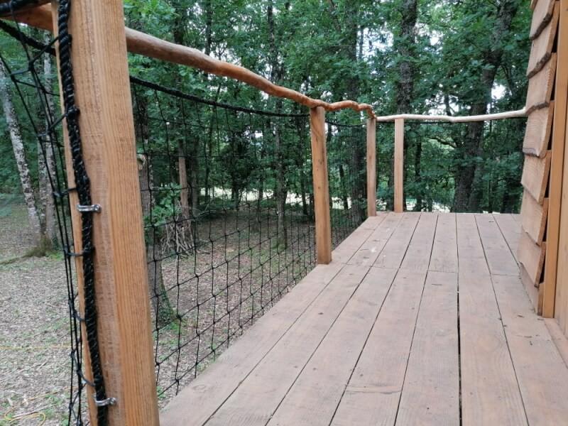 Filet de protection garde-corps pour balcon cabane enfants en hauteur