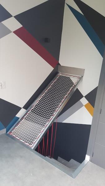Filet garde-corps original pour escalier design