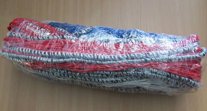 Filets de clôture bleu blanc rouge