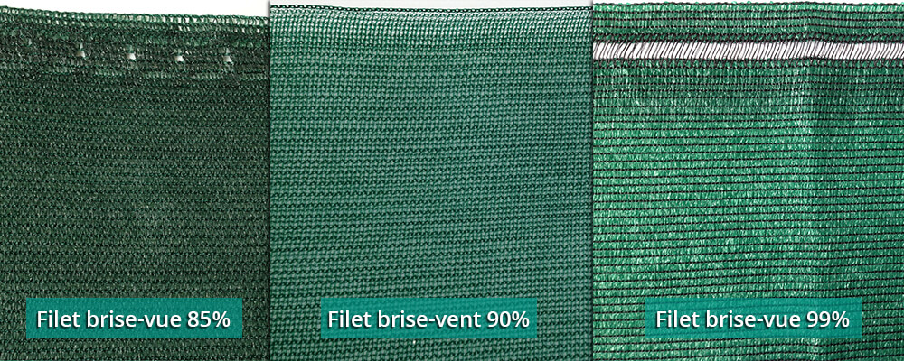 Filet brise-vue et brise-vent finition brute